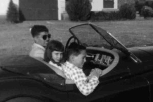 Joe with my mother, Alyce and my Grandfather, Rudy. We have great stories of their exploits in that Jaguar.