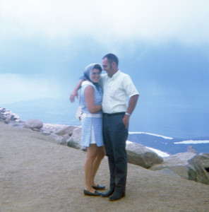 Joe and Martha on Pikes Peak.